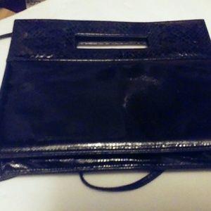 EEL Skin Susan Gill Black Vintage Handbag Purse